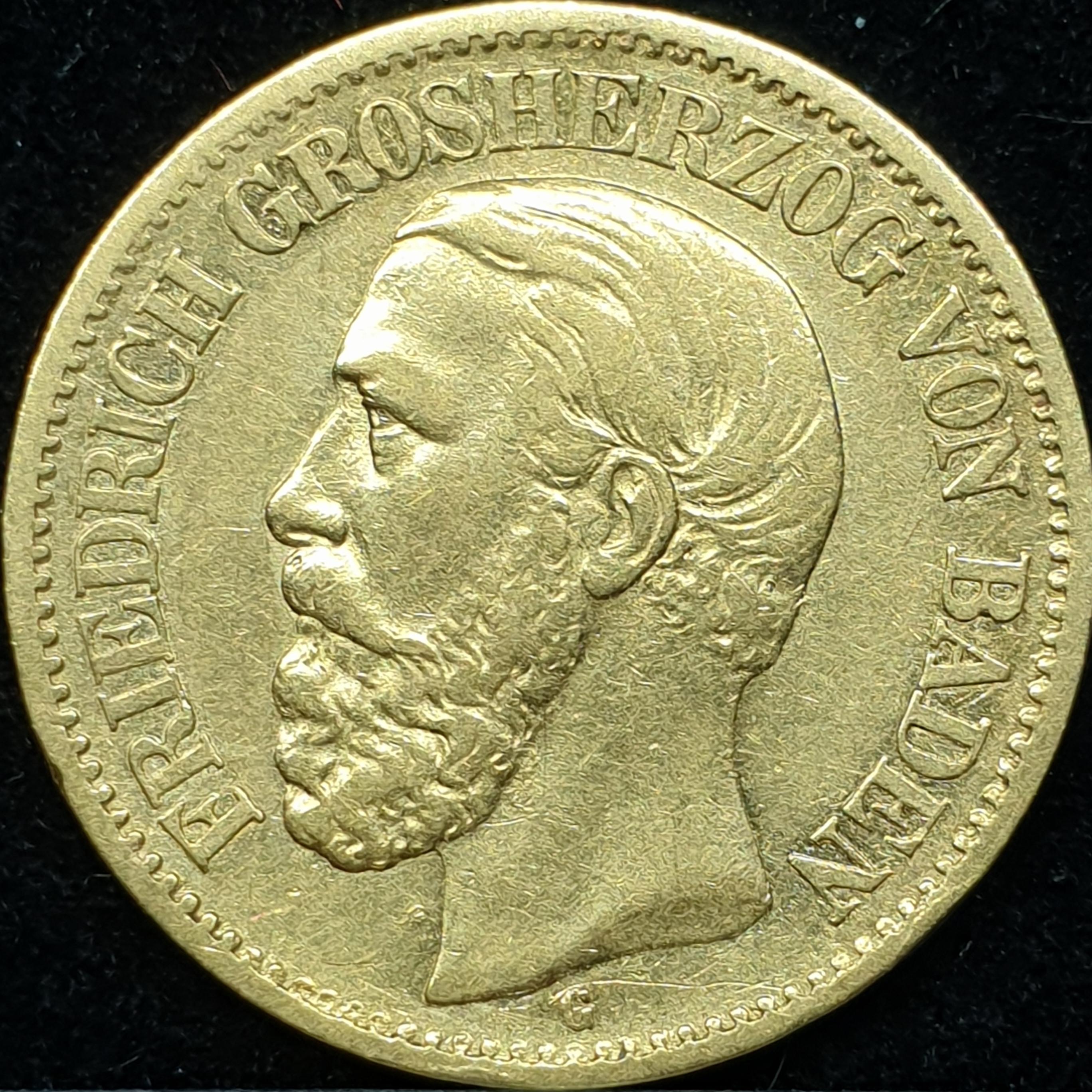 Germany - Baden - 10 mark - 1873 - 'Friedrich I'