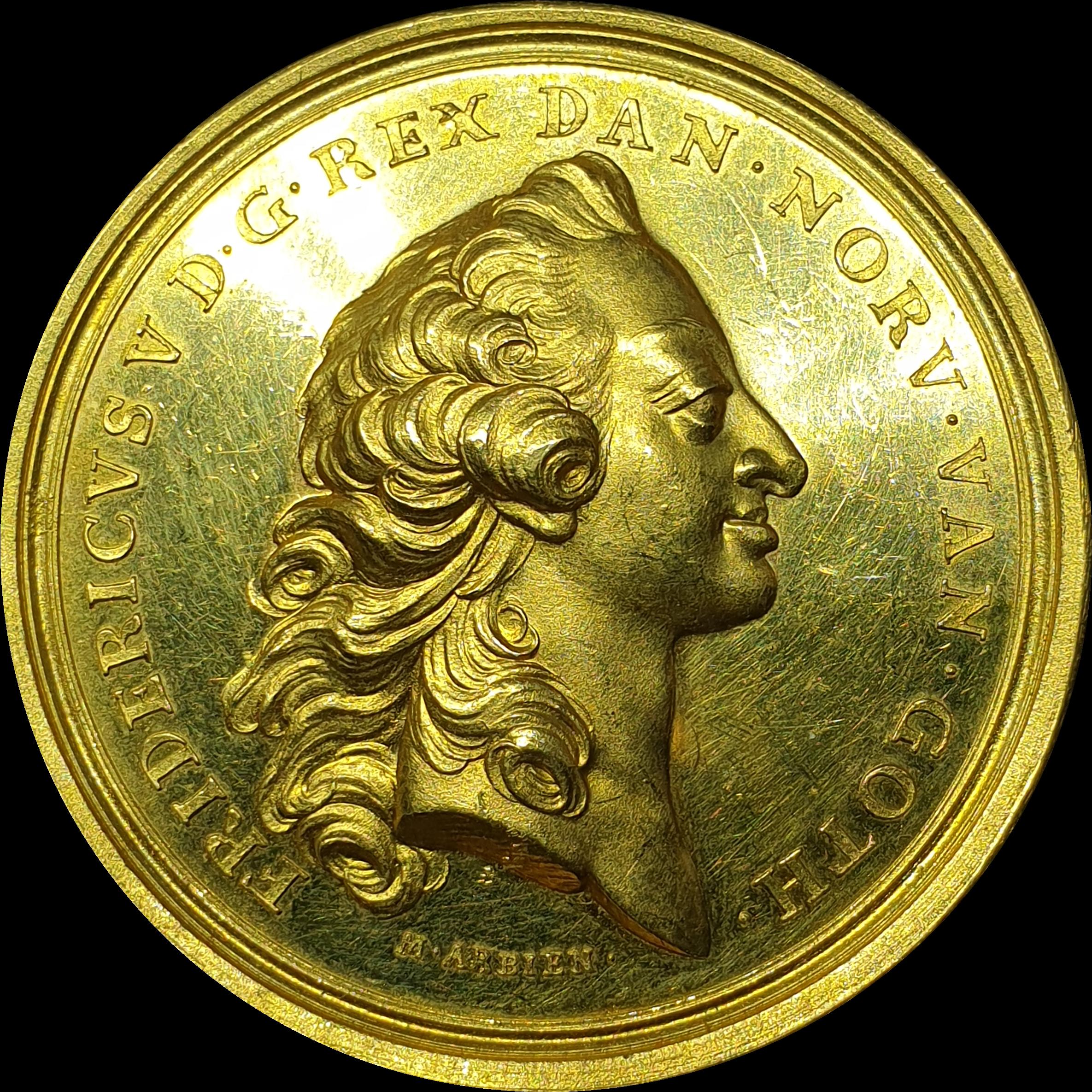 Denmark - 'Frederik V' - Specimen Medal of 12 Ducats - 1758