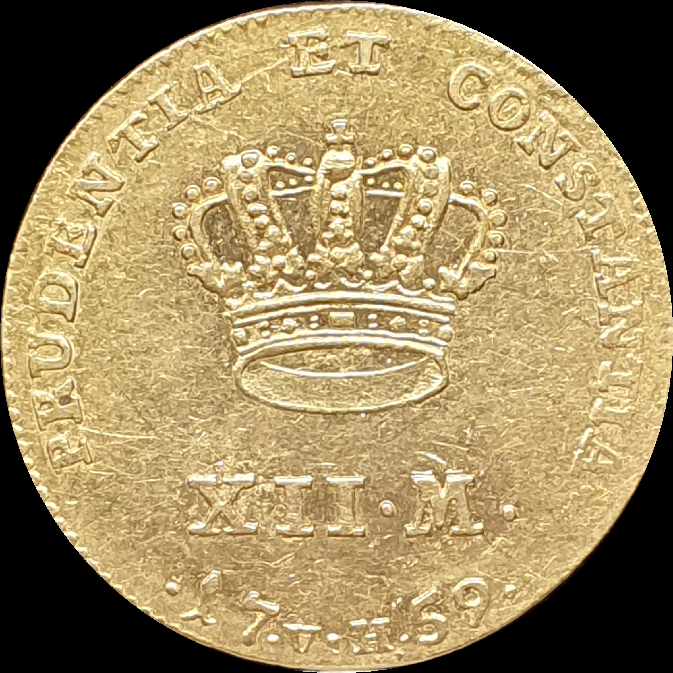 Denmark - 12 mark (ducat) - 1759 - Frederik V