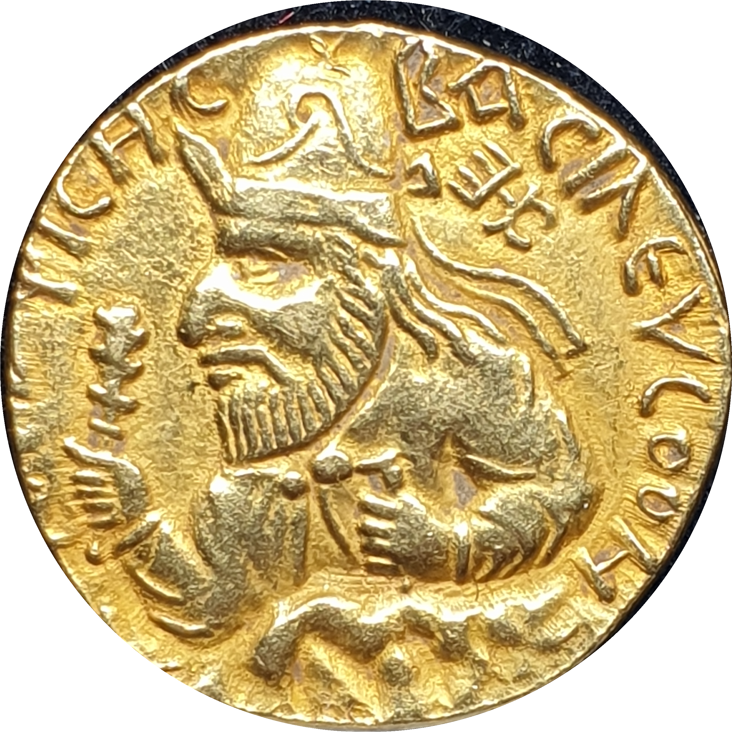 India - Kushan - Gold Dinar - 105-127 AD