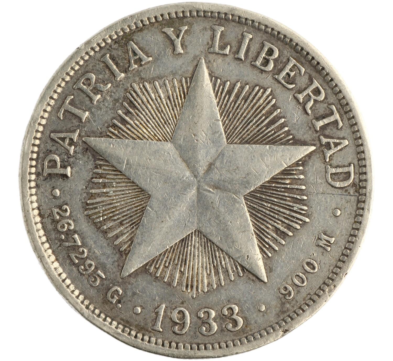 1 Peso - Cuba - 1933