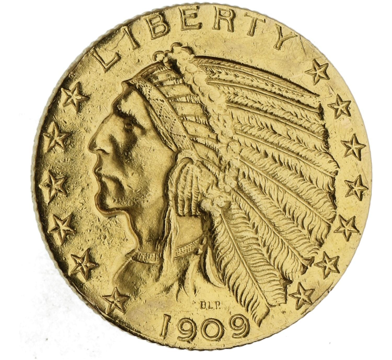 5 Dollars - USA - 1909 D