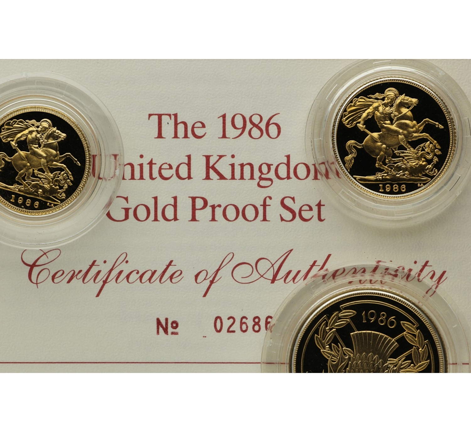 Proof set (3 coins) - Great Britain - 1986
