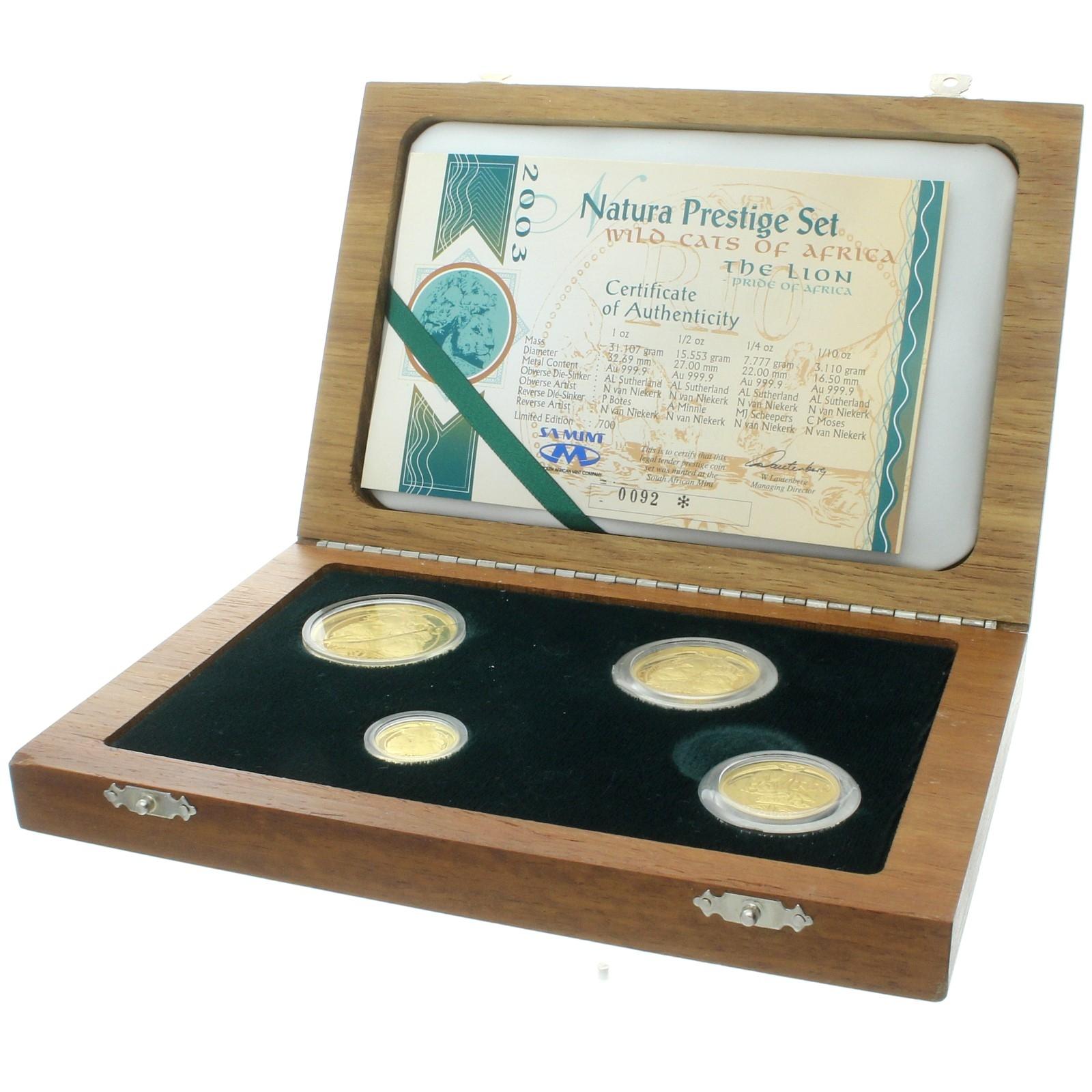 South Africa - 2003 - 10 rand/100 rand - Prestige set - Natura - 1.85 oz