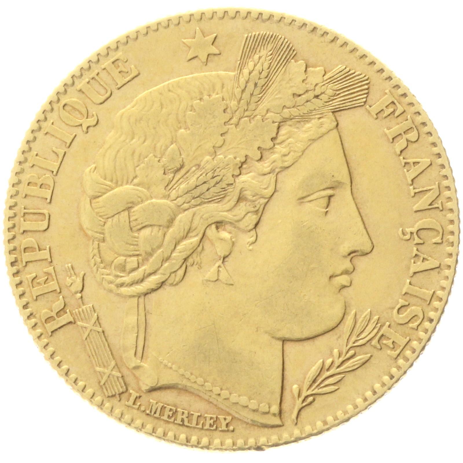 France - 10 francs - 1896 - A