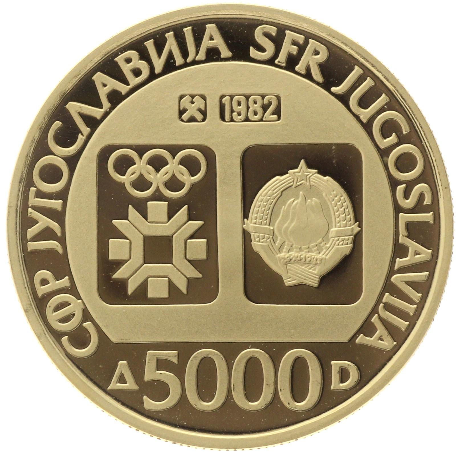 Yugoslavia - 5000 dinara - 1982 - 1984 Winter Olympics
